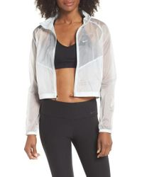 Nike - Transparent Running Jacket - Lyst