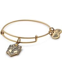 ALEX AND ANI - Tree Of Life Adjustable Wire Bangle - Lyst