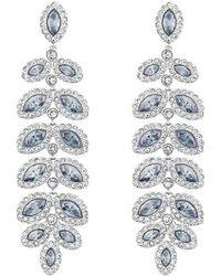 Swarovski - Baron Linear Earrings - Lyst