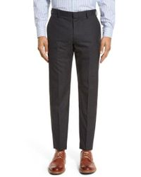 J.Crew - Ludlow Flat Front Solid Wool Trousers - Lyst