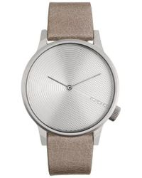 Komono - Winston Deco Leather Strap Watch - Lyst
