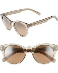 Maui Jim - Dragonfly 49mm Polarized Cat Eye Sunglasses - Translucent Taupe/ Bronze - Lyst