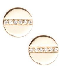 EF Collection - Screw Diamond Stud Earrings - Lyst