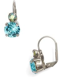 Sorrelli - Round Crystal Drop Earrings - Lyst