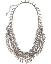 Saint Laurent - Bell Bib Necklace - Lyst