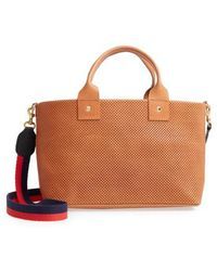Clare V. - Perforated Bruno Leather Crossbody Bag - - Lyst