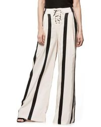 PAIGE - Capucine High Waist Wide Leg Pants - Lyst