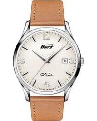 Tissot - Heritage Visodate Leather Strap Watch - Lyst