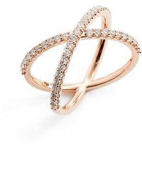 Nadri - Crossover Cubic Zirconia Ring - Lyst