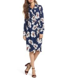 Charles Henry - Floral Shirtdress - Lyst