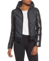 BLANC NOIR - Chevron Reflective Puffer Jacket - Lyst