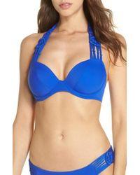 Freya - Underwire Macrame Halter Bikini Top - Lyst