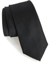 TOPMAN - Black Woven Tie - Lyst