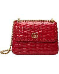 2243072f5e8b Gucci - Small Linea Cestino Glazed Wicker Shoulder Bag - Lyst