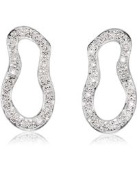 Monica Vinader - Riva Pave Diamond Drop Earrings - Lyst