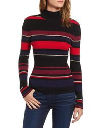 Cupcakes And Cashmere - Stripe Turtleneck - Lyst