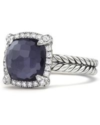 David Yurman - Chatelaine Pave Bezel Ring With Black Orchid & Diamonds - Lyst
