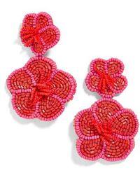 BaubleBar - Rosa Flower Drop Earrings - Lyst