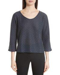 Emporio Armani - Checkerboard Print Jersey Top - Lyst