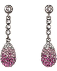 Nina - Teadrop Pave Swarovski Crystal Earrings - Lyst