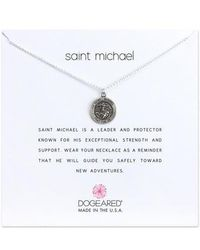 Dogeared - Saint Michael Pendant Necklace - Lyst