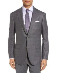 Pal Zileri | Classic Fit Windowpane Wool Sport Coat | Lyst