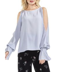 Vince Camuto - Cold Shoulder Flare Cuff Top - Lyst