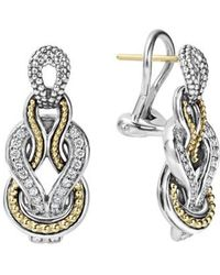 Lagos - 'newport' Diamond Knot Earrings - Lyst