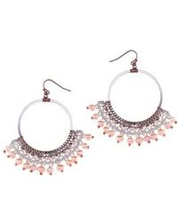 Nakamol - Crochet Bead Hoop Earrings - Lyst