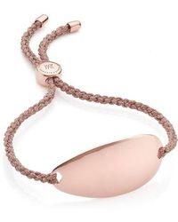 Monica Vinader - Engravable Nura Friendship Bracelet - Lyst