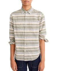 J.Crew | J.crew Classic Fit Deck Stripe Work Shirt | Lyst
