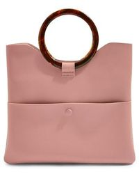 TOPSHOP - Cookie Faux Leather Clutch - - Lyst