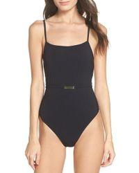 Diane von Furstenberg   Belted One-piece Swimsuit   Lyst