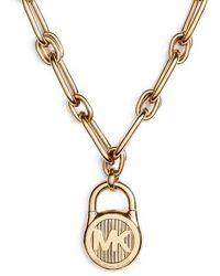 Michael Kors - Padlock Pendant Necklace - Lyst