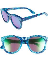 Wildfox - Classic Fox - Deluxe 59mm Sunglasses - Monterey/ Green Mirror - Lyst