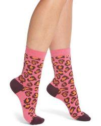 Paul Smith - Edie Leopard Crew Socks - Lyst