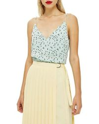 TOPSHOP - Patterned Camisole - Lyst