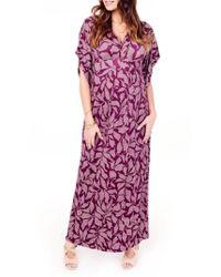 Ingrid & Isabel - Ingrid & Isabel Split Kimono Sleeve Maternity Maxi Dress - Lyst