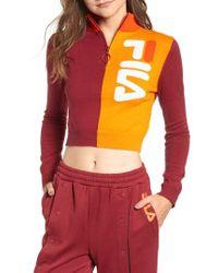 Fila - Fabiana Half Zip Crop Sweater - Lyst