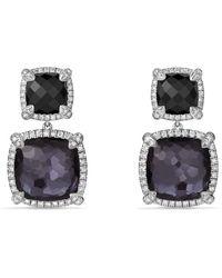 David Yurman - 'chatelaine' Pave Bezel Double Drop Earrings With Diamonds - Lyst