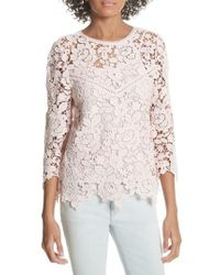 Joie - Charnette Lace Top - Lyst