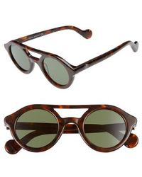 Moncler - 47mm Rounded Sunglasses - - Lyst