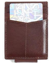 Johnston & Murphy - Leather Money Clip Card Case - - Lyst