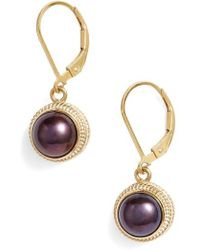 Anna Beck - Genuine Blue Pearl Drop Earrings - Lyst