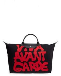 Longchamp - Viva Avant Garde Canvas Travel Bag - Lyst