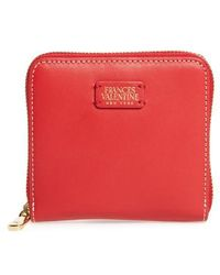 Frances Valentine - Small Roosevelt Calfskin Leather Wallet - Lyst