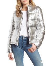 Marc New York - Metallic Puffer Jacket - Lyst