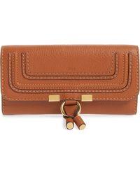 Chloé - Marcie - Long Leather Flap Wallet - - Lyst