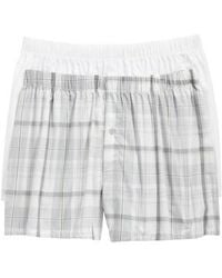 Hanro - 2-pack Fancy Woven Boxers, White - Lyst