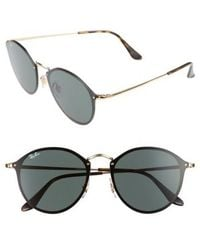 Ray-Ban - Blaze 59mm Round Sunglasses - - Lyst
